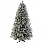 Brad de Craciun artificial acoperit cu zapada artificiala Green Snow, 182 cm