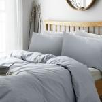 Set lenjerie pat Heart of House Soft Grey, 152 cm x 198 cm