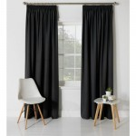 Set 2 draperii ColourMatch Blackout Jet Black, 168x229cm/buc.