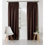 Set 2 draperii ColourMatch Blackout Thermal Chocolate, 117x183cm/buc.