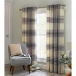 Set 2 draperii  Heart of House Angus Check Lined Grey, 168x183cm/buc.