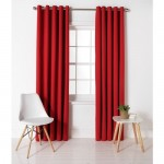 Set 2 draperii ColourMatch Blackout Thermal Poppy Red, 168x183cm/buc.