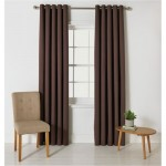 Set 2 draperii ColourMatch Blackout Thermal Chocolate, Bumbac,117x183cm/buc.