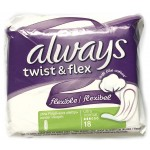 Absorbante Always Twist & Flex, 18 buc.