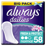 Absorbante zilnice Always Fresh & Protect Normal Deo, 58 buc