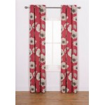 Set 2 Draperii Elissia Poppy Red 117x183cm/buc.