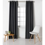 Set 2 Draperii ColourMatch Blackout Jet Black, 117x183cm/buc.