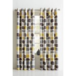 Set 2 Draperii HOME Pebbles Grey/Yellow 168x229cm/buc.