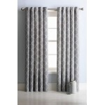 Set 2 Draperii Collection Trellis Grey 168x183cm/buc.