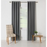 Set 2 Draperii ColourMatch Blackout Thermal Flint Grey 117x137cm/buc.