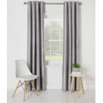 Set 2 Draperii Collection Ella Faux Silk Set Silver 168x183cm/buc.