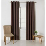 Set 2 Draperii ColourMatch Blackout Thermal Chocolate, Bumbac 117x137cm/buc.