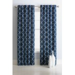 Set 2 Draperii Collection Trellis Indigo 183x168 cm/buc.