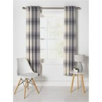 Set 2 Draperii Heart of House Angus Check Lined Grey 117x137cm/buc.
