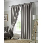 Set 2 Draperii Darwin Unlined Pencil Pleat Grey 117x183cm/buc.