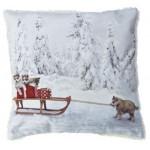 Perna Christmas Husky 43x43cm