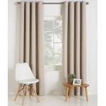 Set 2 Draperii Collection Linen Look Stone 168x229cm/buc.