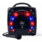 Sistem Karaoke SML-283 Portable CD-G Karaoke Player and 3 CDGs Party Pack Black