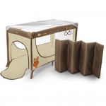 Patut de copil KinderKraft Joy Folding Travel Cot Beige