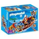 Barca cu vasle pentru transport comori Playmobil