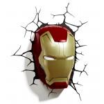Veioza Masca Marvel Iron Man 3D Led