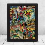 Poster 3D ART Marvel Comics