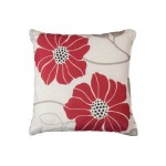 Perna Jessica Cushion Cream and Red 43 x 43cm