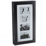 Cabinet de Bijuterii Miadomodo cu 4 Rame Foto 56 x 28 x 7.8 cm, Negru