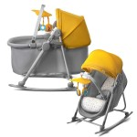 Balansoar Copil Kinderkraft 5 in 1 UNIMO Baby Bouncing Galben