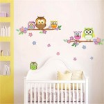 Sticker Perete Walplus Colorful Owl 30 x 60 cm