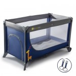 Patut de copil KinderKraft Joy Folding Travel Cot Navy