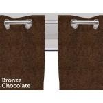 Draperie Larson Blackout Bronze Chocolate cu Inele 150 x 250 cm