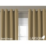 Draperie Larson Blackout Dark Taupe cu Inele 150 x 250 cm