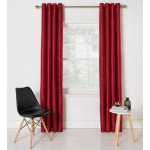 Set 2 draperii Collection Ella Faux Silk Red 229x229cm/buc.