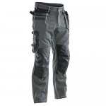 Pantaloni de lucru Jobman, gri inchis / negru