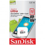 Card Sandisk Ultra Android microSDHC 32GB Clasa 10 48Mbs UHS-I