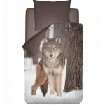 Set Lenjerie de Pat NightLife Wolf, 135 x 200cm/ 80 x 80cm
