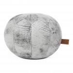 Taburet Puf din Piele Hawke & Thorn Hudson Marble