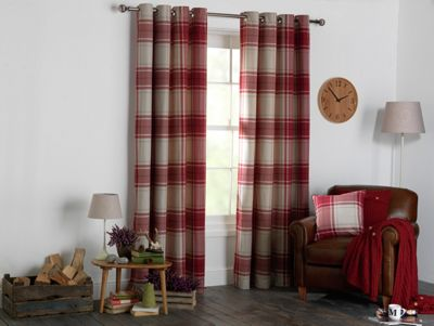 Set 2 Draperii Heart of House Angus Red 117x137cm/buc.